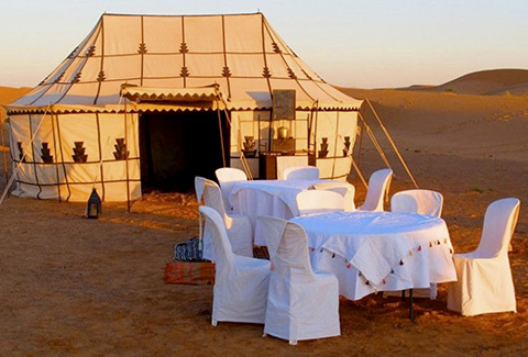 Our Morocco desert camp in erg Chebbi